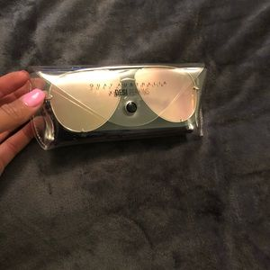 Quay Aviator Mirrored Sunglasses